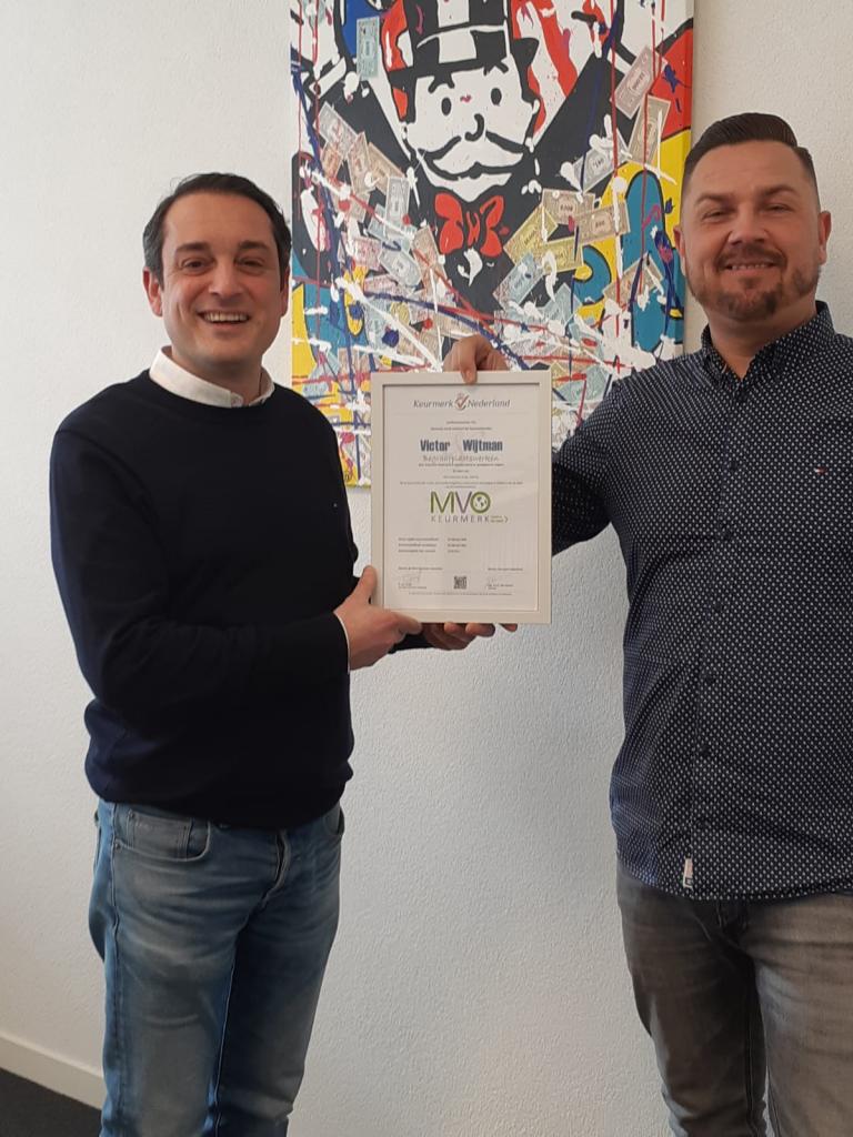 Victor & Wijtman behaalt voor de derde keer MVO Keurmerk