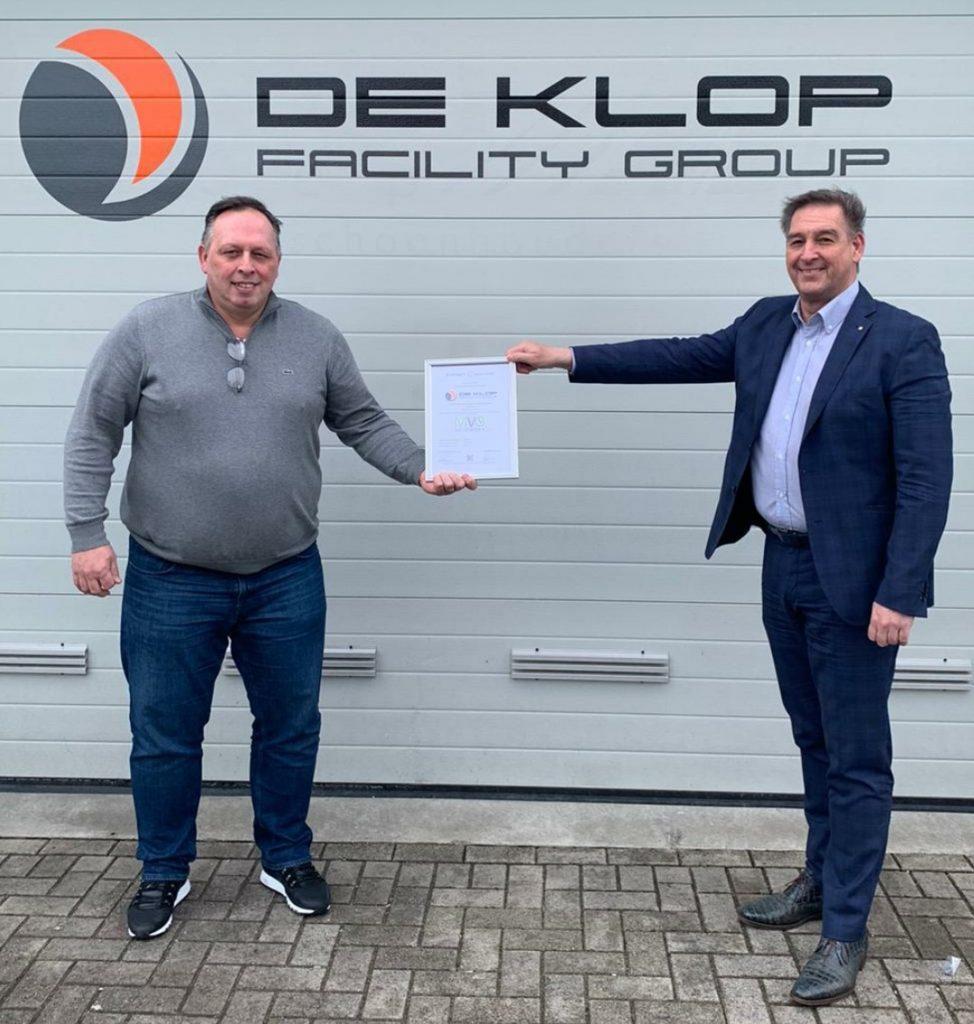 De Klop Facility Group behaalt MVO Keurmerk
